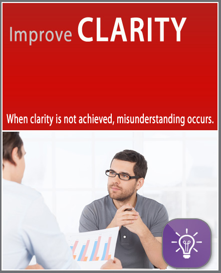 Improve Clarity micro learning online training. Quick, affordable, free, 10 minutes, mobile, short training.